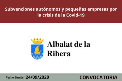 Subvenciones autónomos y pequeñas empresas por la crisis de la Covid-19