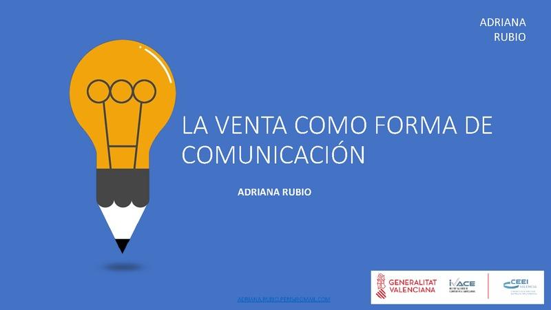 La venta como forma de comunicación